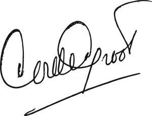 Autograph by Cor de Groot